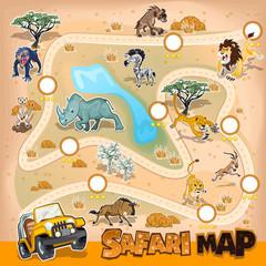 Africa Safari Map Wildlife