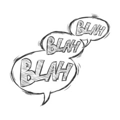 Vector Sketch Comics Bubbles - Blah-Blah-Blah