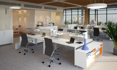 Arbeitsplatz in Loftbüro - Loft Office in high building