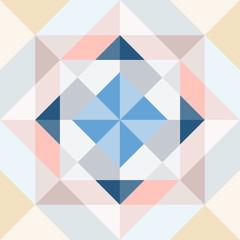 Pink blue beige. Cubism