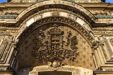 Louvre architecture elements, Paris, France