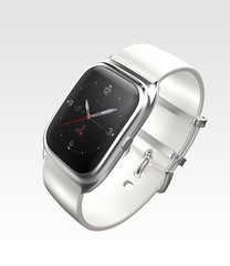 Silver smart watch isolated on white background