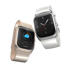 Stylish smart watches isolated on white background