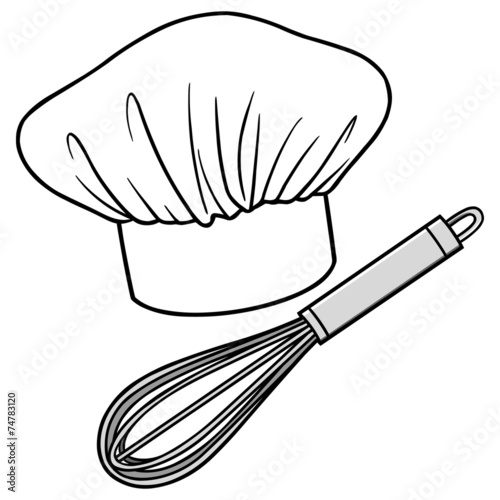 chef hat drawing sketch coloring page