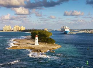 Scenic view of Nassau, Bahamas.