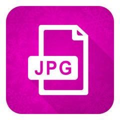 jpg file violet flat icon, christmas button