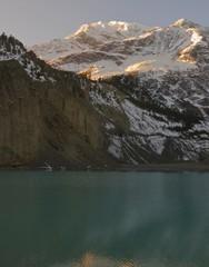 Mountain lake dawn