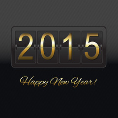 New Year Black Counter