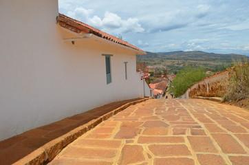 Barichara colonial village in Colombia