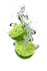Lime with water