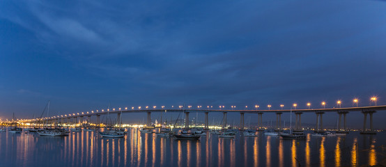 coronado bridge in san diego bay
