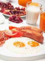Fried eggs served for breakfast