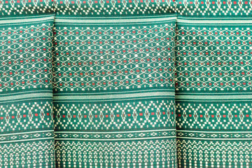 Vintage traditional Thai handmade fabric texture background