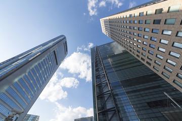 [東京都市風景]日本最大級のビジネス街 汐留高層ビル街 超広角撮影