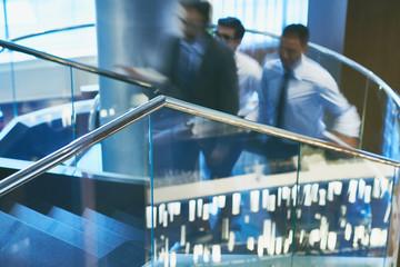 Railings in office building