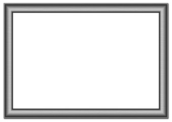 Blank frame on a white background