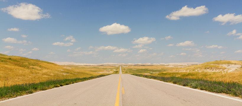 Ultra Wide North Dakota Highway
