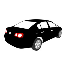 Silhouette of Car vector black