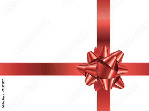 Gift Bow Vector Red Christmas Present Ribbon Stock Image And