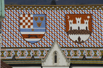 famous roof in zagreb