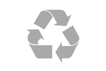 recycle symbol with clipping path