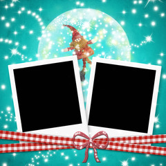Christmas cards photo frames cute elf