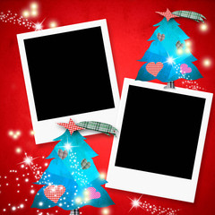 Christmas cards two photo frames