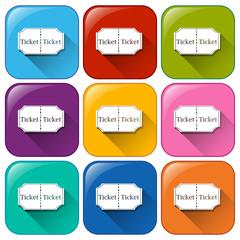Movie ticket icons