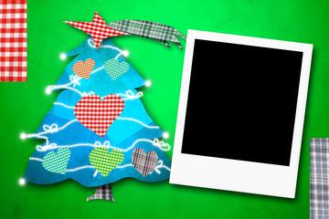 Christmas cards photo frame cute tree