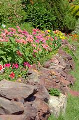 Tropical Floral Garden Wallpaper.