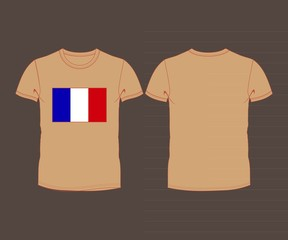 France flag shirt  football soccer ball
