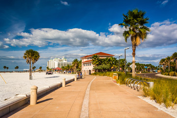 Path along the beach in Clearwater Beach, Florida.