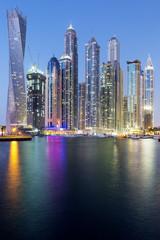 Vertical view of Skyscrapers in Dubai Marina