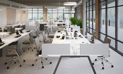 workbench in Loft office - Workbench in Loft Büro