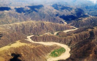 Vallée de la Cordillère des Andes, Bolivie