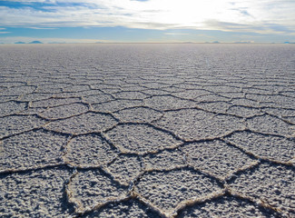 Détail du salar d'Uyuni, Bolivie