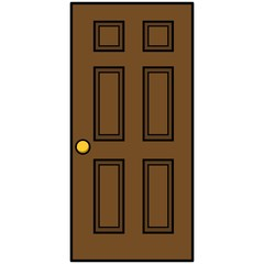 See More  sc 1 st  Adobe Stock & Door with Door Mat Illustration - A vector cartoon illustration of a ...