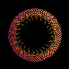 Rainbow colored floral design element