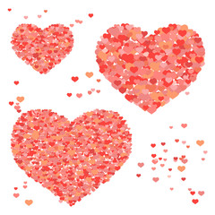 Valentine background with hearts, repetitive pattern