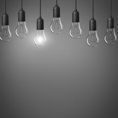 Lampe / Glühbirnen / Konzept