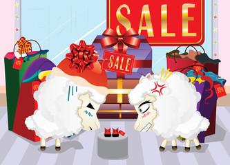 Sheeps on Shopping
