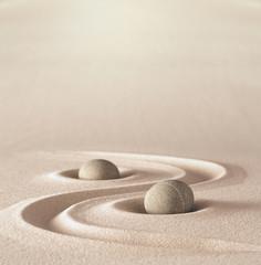 Photo sur Plexiglas Zen pierres a sable zen garden meditation stone