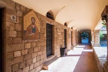 Икона в коридоре крепости  Филеримос остров Родос Греция