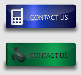 Contact us green and b,ue buttons