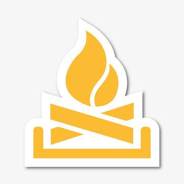Logo feu de cheminée.