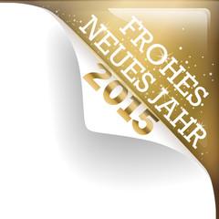 goldene Ecke frohes neues Jahr 2015
