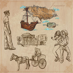 Jamaica Travel - An hand drawn vector pack