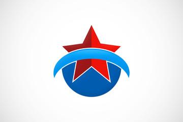 star loop pride success emblem logo vector