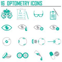 optometry icons set
