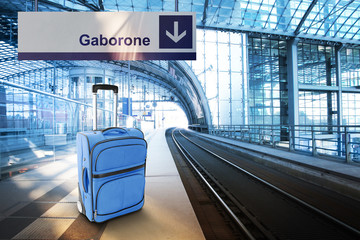 Departure for Gaborone, Botswana